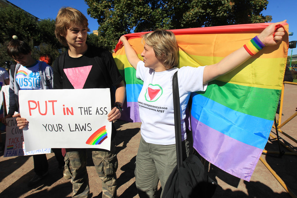 Activists took the G20 as an opportunity to protest Russia's antigay laws.