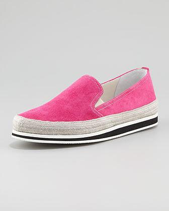 Prada Slip-On Sneaker, Peonia
