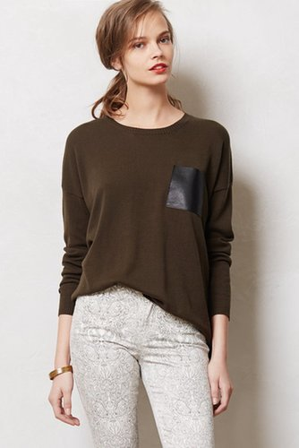 Leather Pocket Pullover