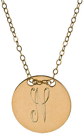 Miriam Merenfeld Personalized Circle Tag Necklace