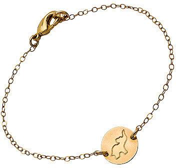 Miriam Merenfeld Gold Engraved Elephant Symbol Bracelet