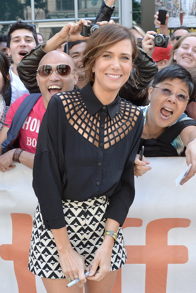 Kristen Wiig greeted fans ahead of the premiere for Hateship Loveship.