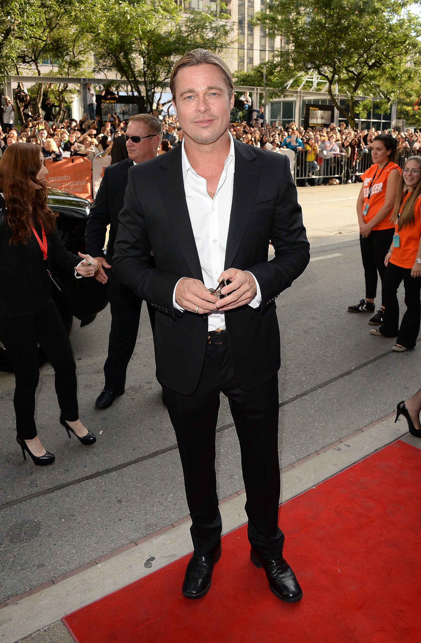 Brad Pitt hit the red carpet for the premiere of 12 Years a Slave.