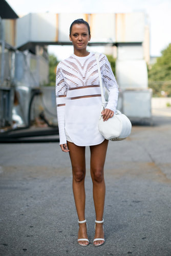 Chic in white Alexander Wang.