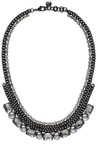 Rhinestone & Pearl Necklace
