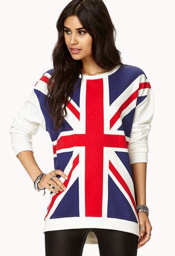 FOREVER 21 British Flag Sweatshirt