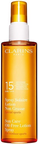 clarins sunscreen oil-free lotion spray SPF15 150ml