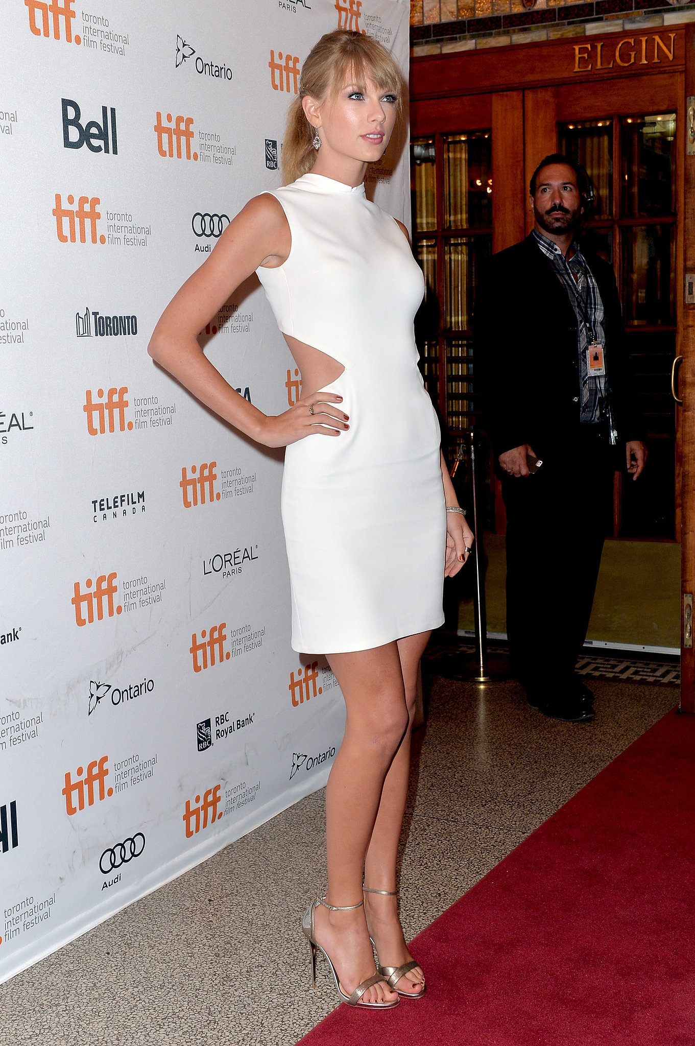 Taylor Swift attended the One Chance premiere.