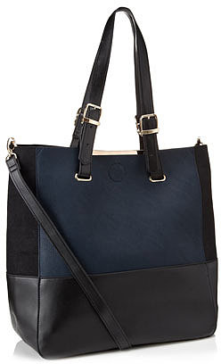 Esme Contrast Panel Tote