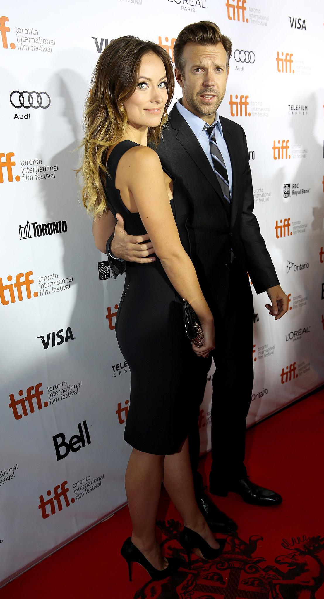 Jason Sudeikis escorted Olivia Wilde on the red carpet.