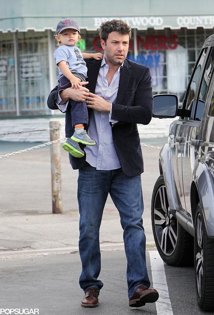 Ben Affleck Suits Up For Daddy Duty as Jennifer Garner Heads Home