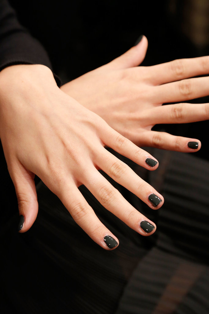 Nails as dark as night at Mark and Estel.