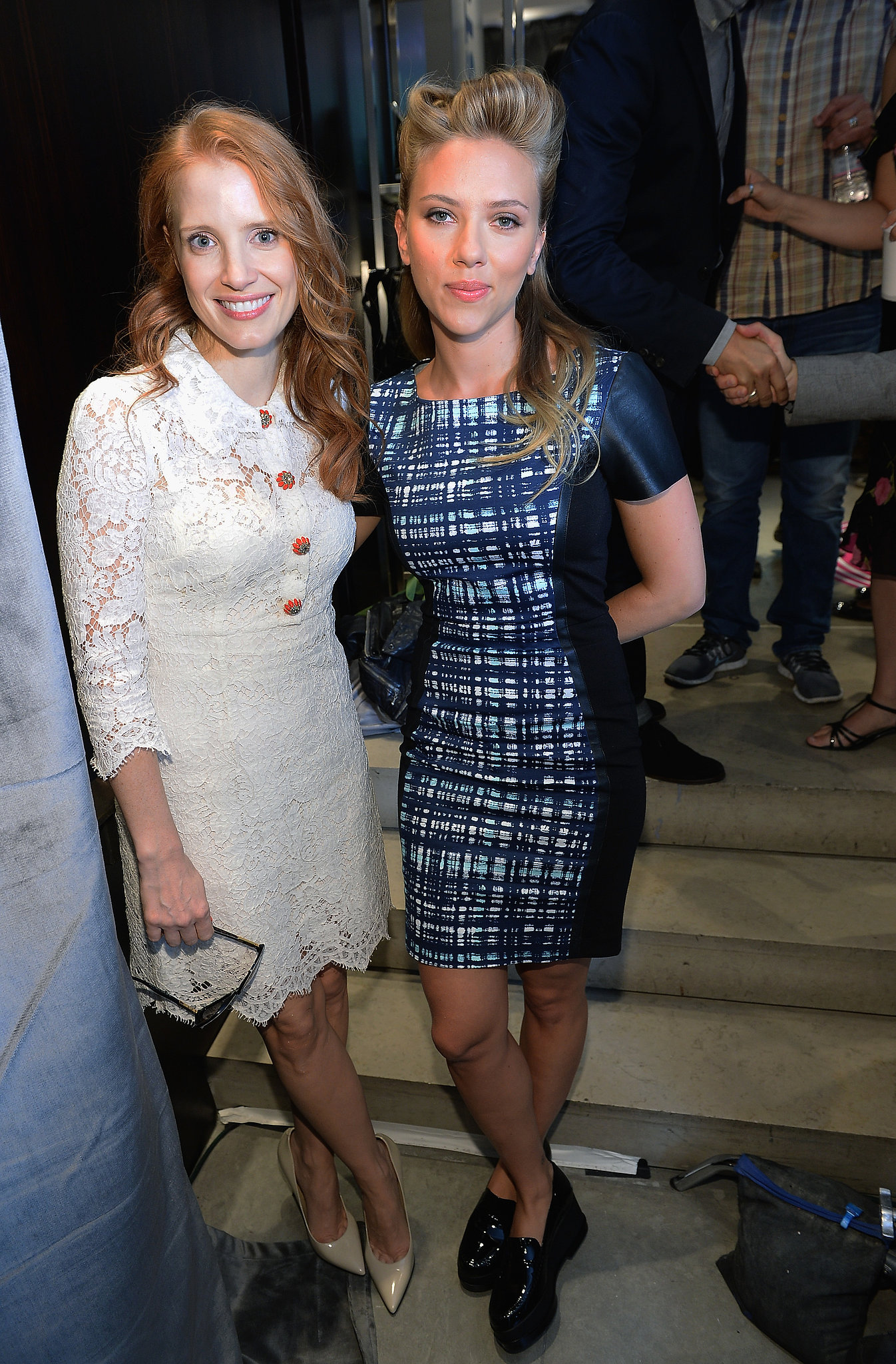 Scarlett Johansson met up with Jessica Chastain.