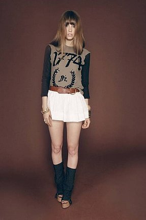 Wildfox 1774 Sequin Campfire Tee in Militant