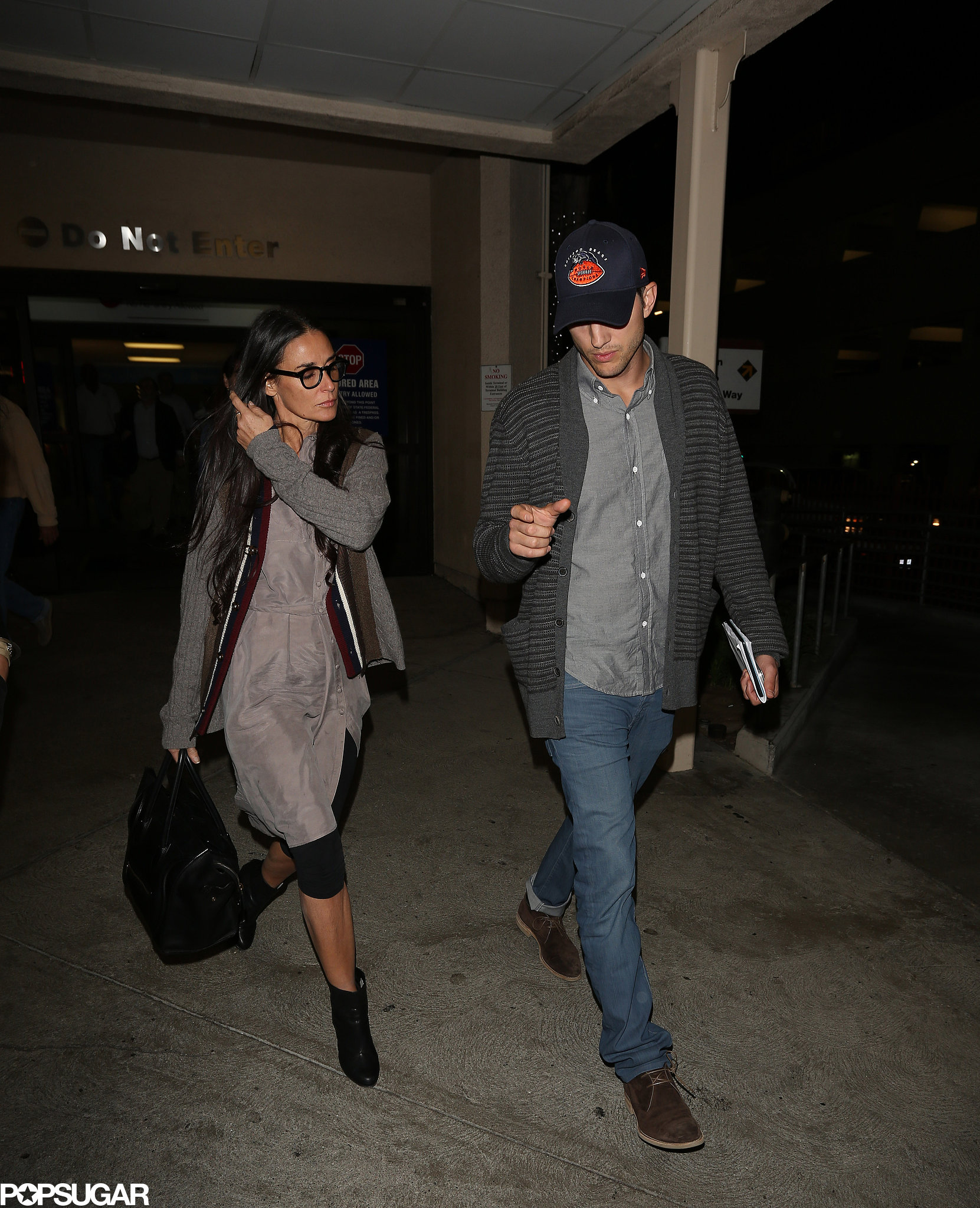 Amicable Exes? Ashton Kutcher Reunites With Ex-Wife Demi Moore For a Flight