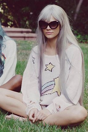 Wildfox Couture Shooting Star Lennon Sweater in Pink Lipstick