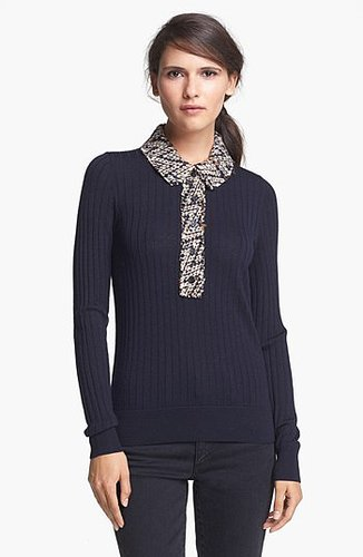 Tory Burch 'Zelda' Merino Wool Sweater