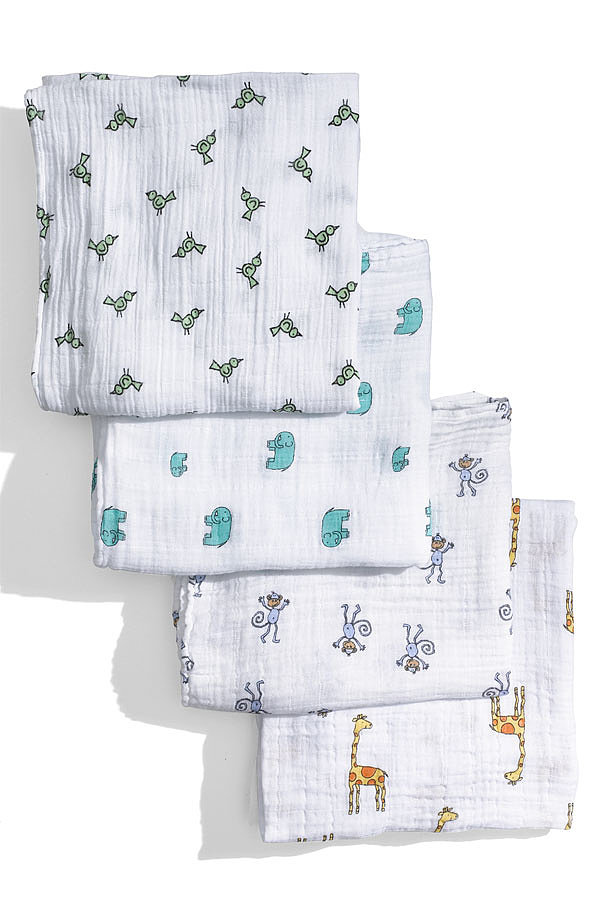 For centuries, mothers have used soft, natural muslin to swaddle their little ones. But perhaps they've never done it so stylishly as with these aden + anais swaddle wraps. Each natural wrap comes in a clean, classic print that's also soft to the touch for parents and baby.