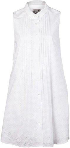 Sea New York Pintucked shirt dress