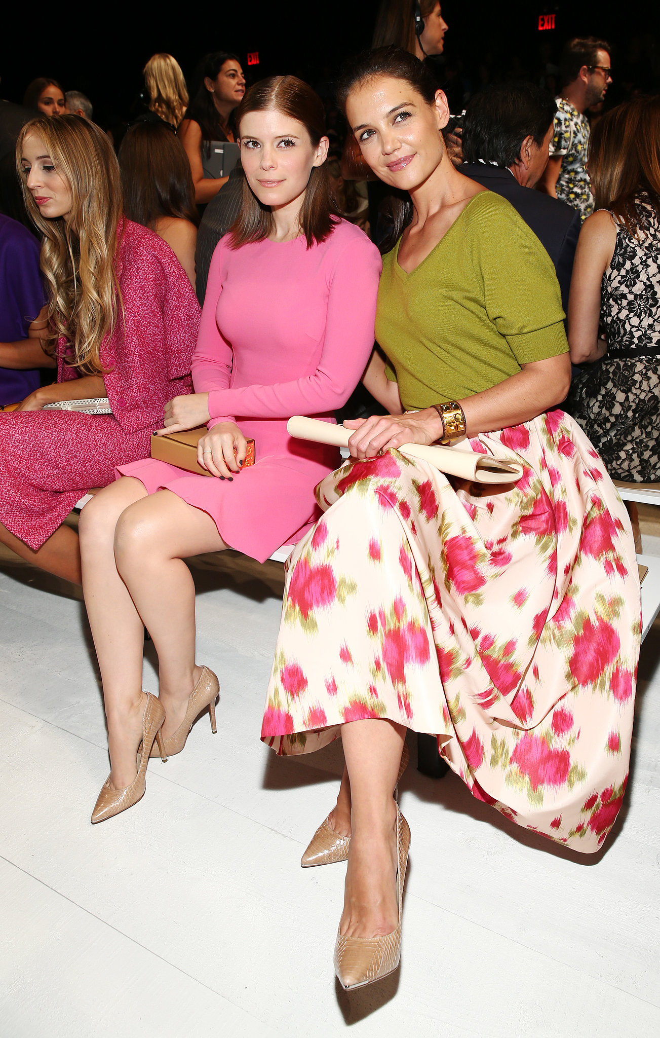 Katie Holmes and Kate Mara sat front row at NYFW.