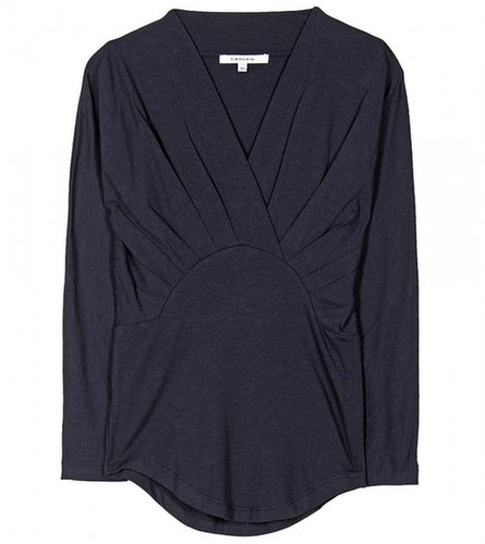 Carven PLEATED JERSEY TOP