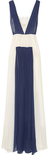 By Malene Birger Kadria color-block silk-chiffon gown