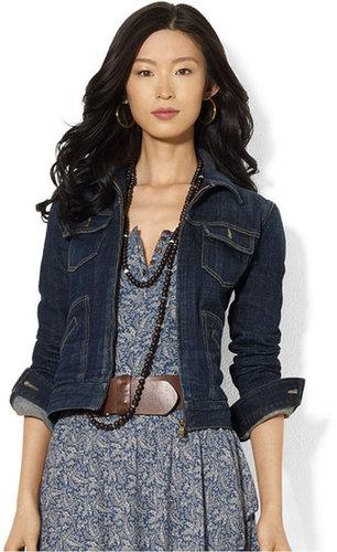 Lauren Ralph Lauren Lauren Jeans Co. Petite Jacket, Denim Zippered