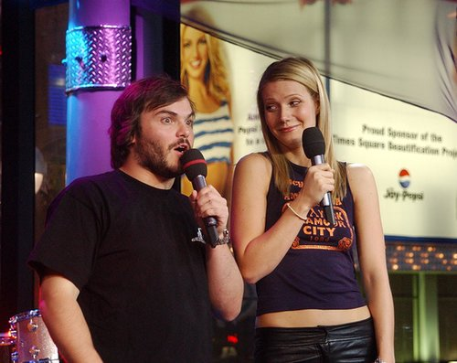 Jack Black and Gwyneth Paltrow joked around on TRL while promoting their movie Shallow Hal in 2001.