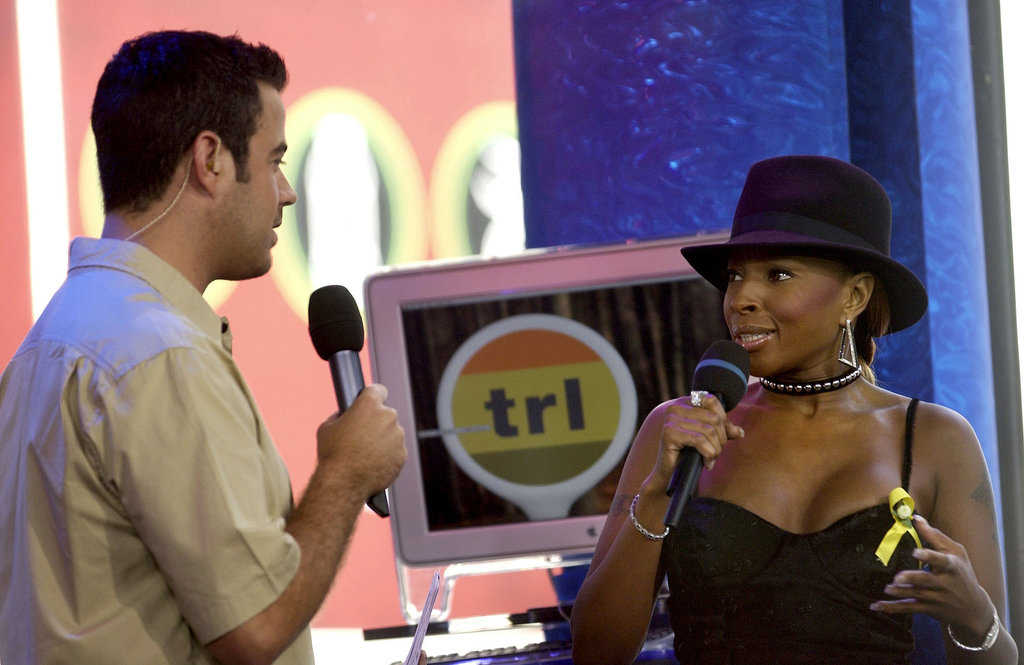 Mary J. Blige chatted with Carson Daly about her album No More Drama on TRL in 2001.