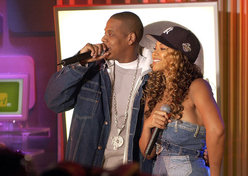 Beyoncé and Jay Z performed on TRL together in 2002.