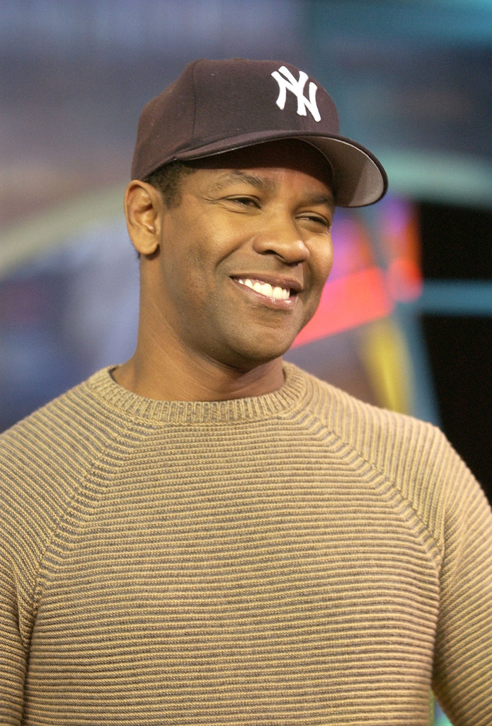 Denzel Washington stopped by the MTV Studios for TRL in 2002.