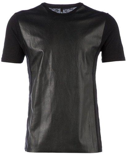 Neil Barrett faux leather front t-shirt