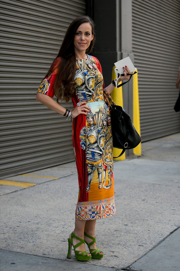This dress was made for the streets of Fashion Week.
