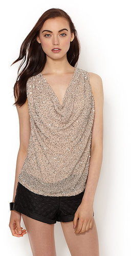 Junk Sequin Cowl Top