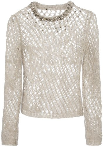 Ermanno Scervino crystal-embellished sweater