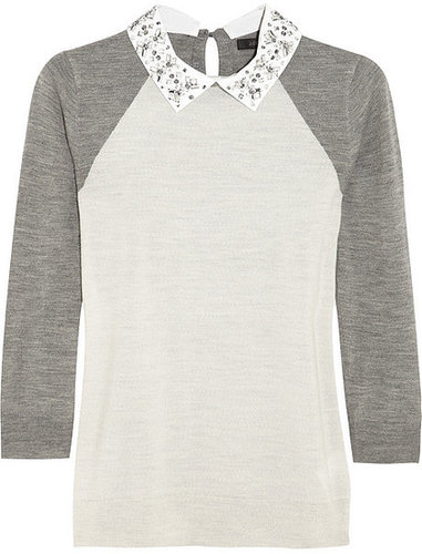 J.Crew Embellished merino wool sweater