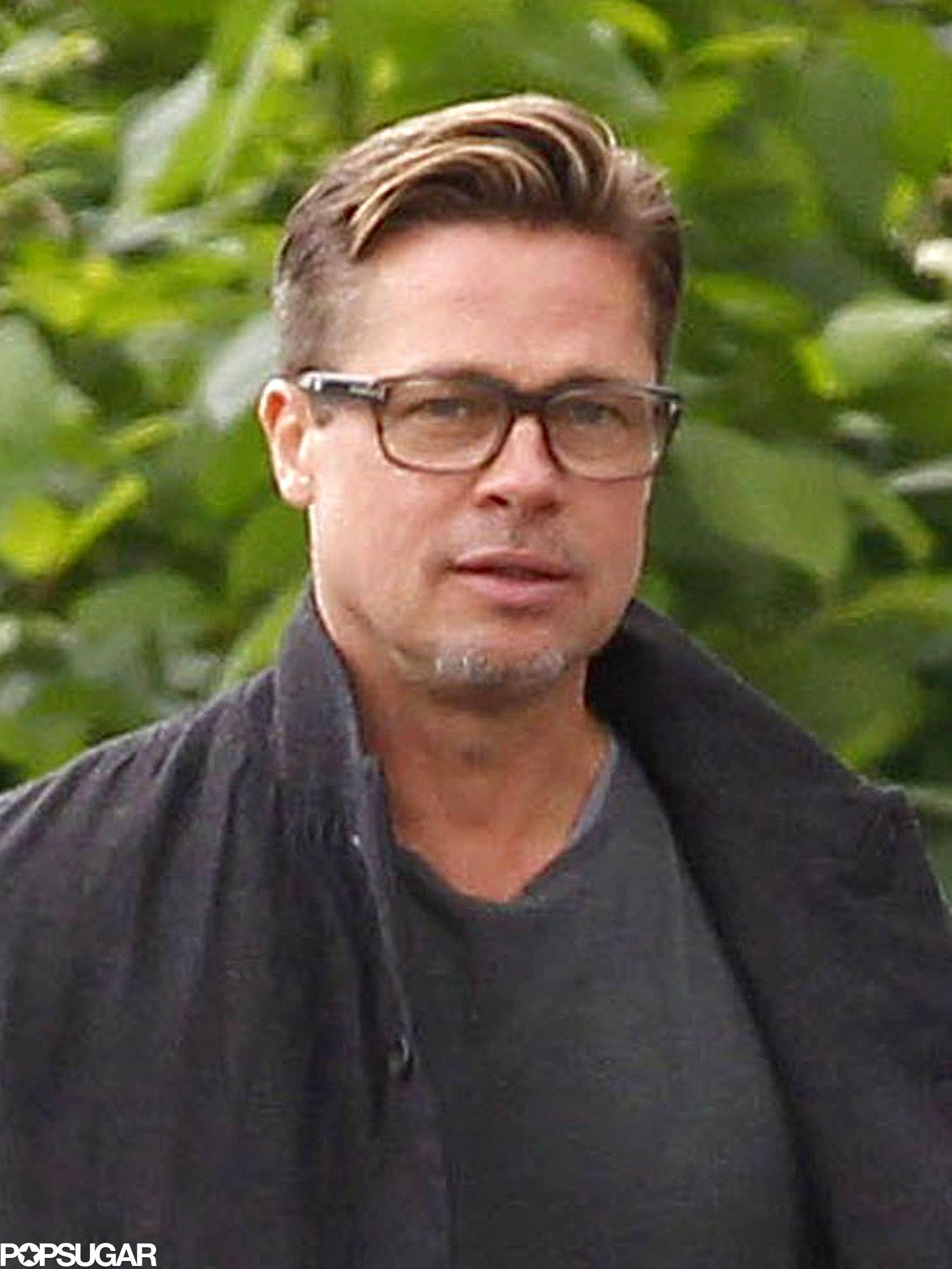 Brad Pitt showed off his short hair in London.