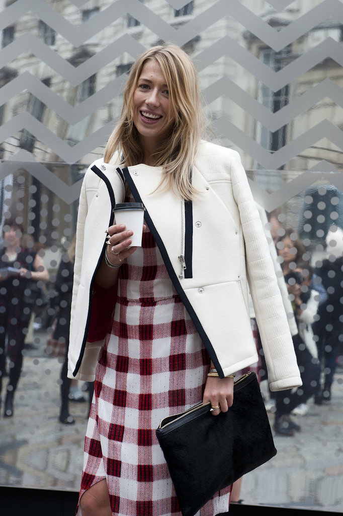 We can't decide what we love more — that jacket or that plaid.