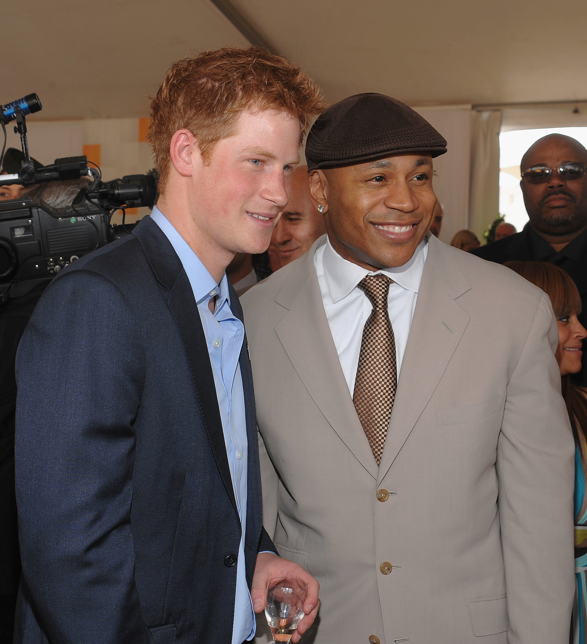 Prince Harry posed with LL Cool J at the Veuve Clicquot Polo Classic in NYC in 2009.