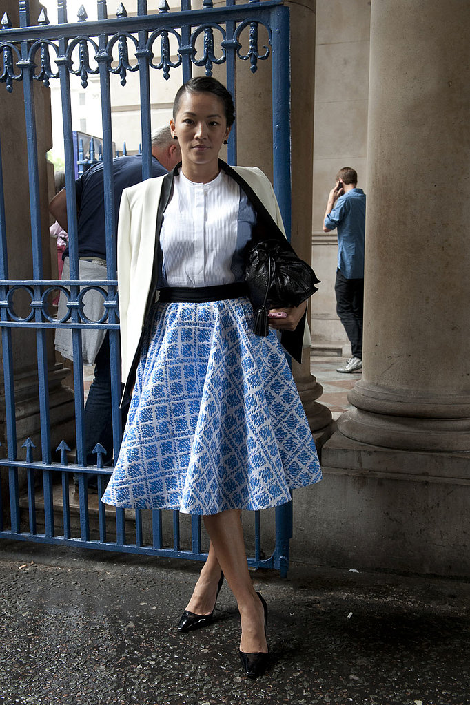 Full volume skirts are having a serious moment, and this stylish lady knows how to pull one off perfectly.