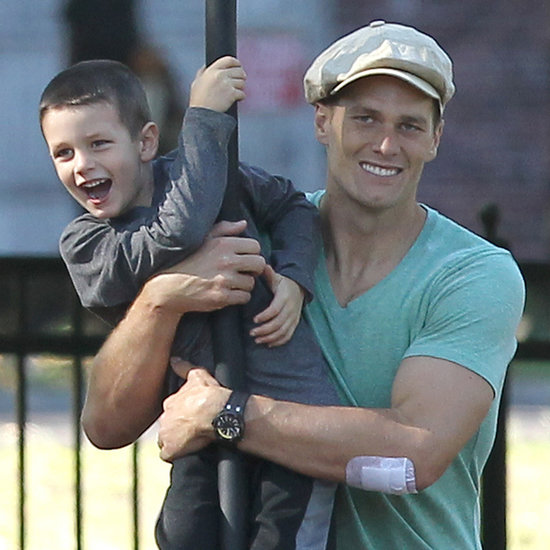 Tom Brady at the Playground With His Boys   Pictures