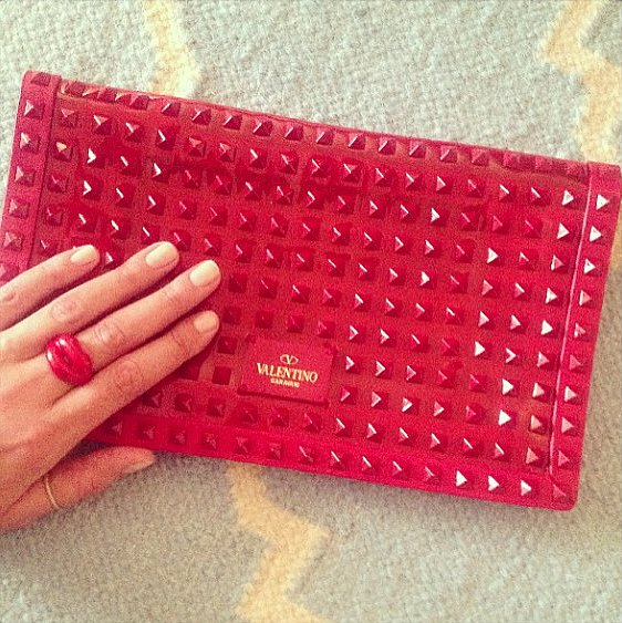 Nicky Hilton's red Fashion Week accessories were perfectly coordinated! Source: Instagram user nickyhilton