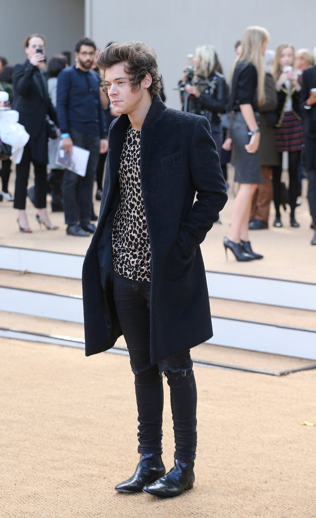 Harry Styles Hits Up Fashion Week to Support His Rumored Supermodel Girlfriend