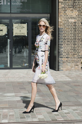 There's really just one word that comes to mind spotting Poppy Delevingne in Erdem: perfect.
