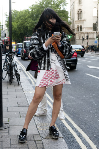 Susie Bubble did her thing in statement pieces and crazy-cool footwear.