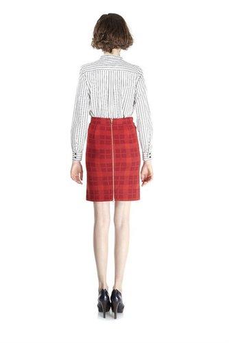 Maya Plaid Jacquard Skirt