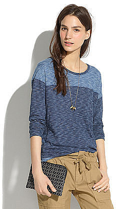 Not exactly authentic denim, but this Madewell striped indi