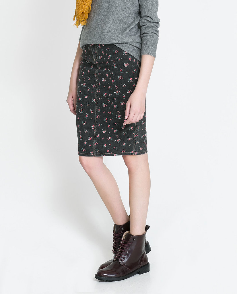 Give your '90s style a modern update with this Zara floral-print denim pencil skirt ($50).