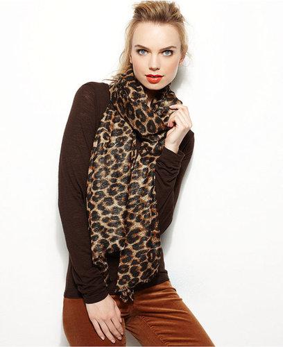 Style&co. Wrap, Lurex® Leopard Print
