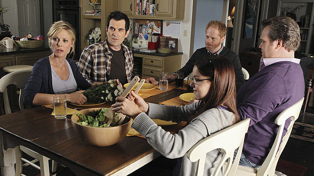The show: Modern Family  The date: Cook for family dinner   We can't all laugh with Phil, Cam, or Gloria over dinner once a week (sad face), but we bet your families are just as cool. Cook up a meal together, and invite both your parents and siblings over for a good time. (And if you're not that serious, substitute family for friends!)